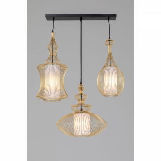 KARE Design Stropní světlo Swing Iron - zlaté, 3 světla