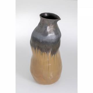 KARE Design Vysoká hnědá kameninová váza Collapse 70cm