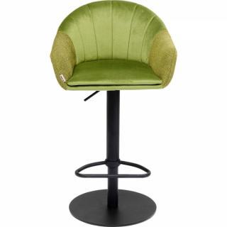 KARE Design Zelená čalouněná barová židle Musa