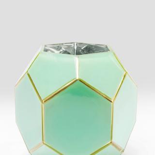 KARE Design Zelená skleněná váza art Pastel 19cm
