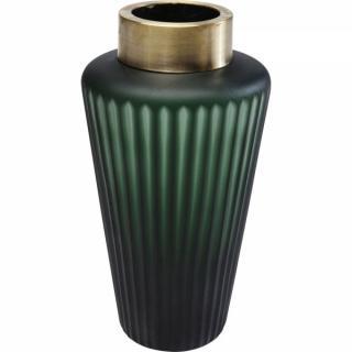 KARE Design Zelená skleněná váza Romeo 24cm