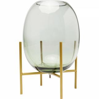 KARE Design Zelená skleněná váza Stilt 23cm