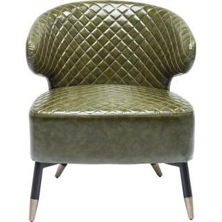 KARE Design Zelené čalouněné retro křeslo Session