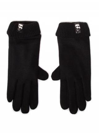 KARL LAGERFELD Dámské rukavice 206W3601 Černá S
