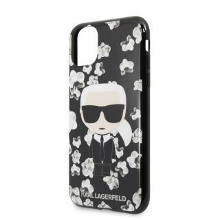 Karl Lagerfeld Flower kryt silikonový KLHCN65FLFBBK Apple iPhone 11 Pro Max black