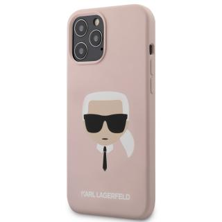 Karl Lagerfeld Head silikonový kryt KLHCP12LSLKHLP Apple iPhone 12 Pro Max light pink