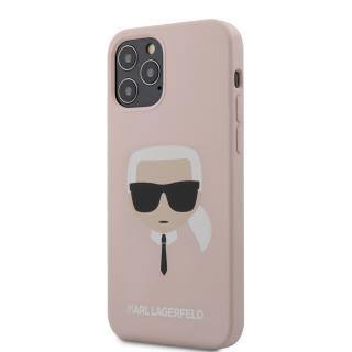 Karl Lagerfeld Head silikonový kryt KLHCP12MSLKHLP Apple iPhone 12/12 Pro light pink