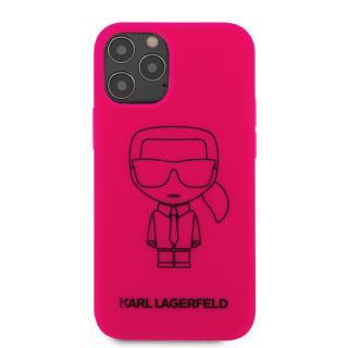 Karl Lagerfeld Iconic Outline silikonový kryt KLHCP12MSILFLPI Apple iPhone 12/12 Pro pink