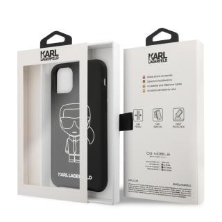 Karl Lagerfeld Ikonik silikonový kryt KLHCN65SILFLWBK Apple iPhone 11 Pro Max white
