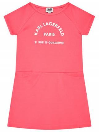 KARL LAGERFELD Každodenní šaty Z12171 M Růžová Regular FIt dámské 4Y