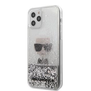 Karl Lagerfeld Liquid Glitter Iconic kryt KLHCP12LGLIKSL Apple iPhone 12 Pro Max silver