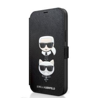 Karl Lagerfeld Saffiano K&C flipové pouzdro KLFLBKP12SSAKICKCBK Apple iPhone 12 mini black