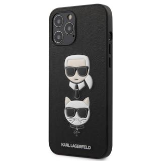 Karl Lagerfeld Saffiano K&C Heads kryt KLHCP12LSAKICKCBK Apple iPhone 12 Pro Max black