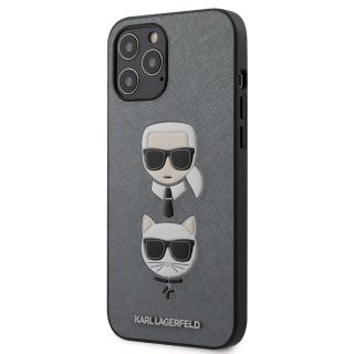 Karl Lagerfeld Saffiano K&C Heads kryt KLHCP12LSAKICKCSL Apple iPhone 12 Pro Max silver