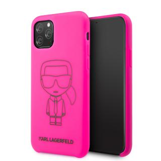 Karl Lagerfeld silikonový kryt KLHCN65SILFLPI Apple iPhone 11 Pro Max black out pink
