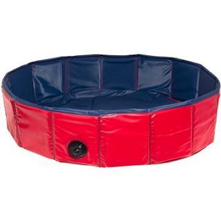 Karlie Skládací bazén pro psy modro/červený 80 × 20 cm