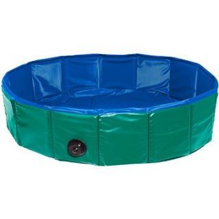 Karlie Skládací bazén pro psy zeleno/modrý 160 × 30 cm