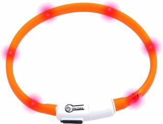 Karlie Visio Light Oranžová Obojek 35 cm