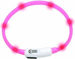 Karlie Visio Light Růžová Obojek 35 cm