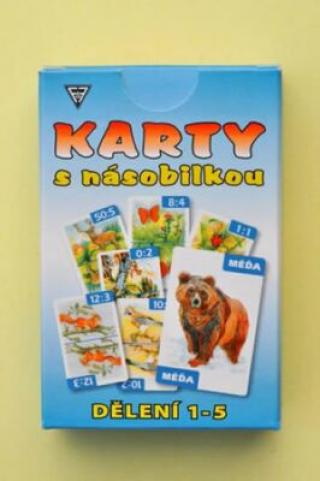 Karty s násobilkou - Násobení 1-5 - Dobruška Flösslerová