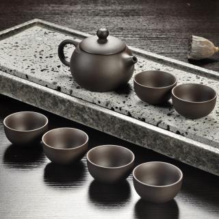 Keramická čajová sada 7 ks C117 Barva: černá, Varianta: 1