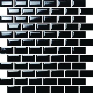 Keramická mozaika Premium Mosaic černá 30x30 cm lesk MOS2348BK černá černá