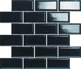 Keramická mozaika Premium Mosaic černá 30x30 cm lesk MOS4595BK černá černá