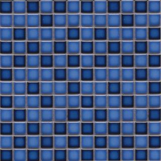 Keramická mozaika Premium Mosaic modrá 30x30 cm lesk MOS23MIXBL modrá modrá