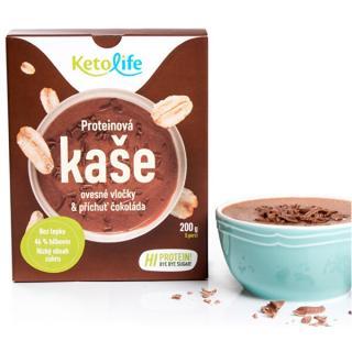 KetoLife Proteinová kaše - Ovesné vločky a příchuť čokoláda 5 x 40 g