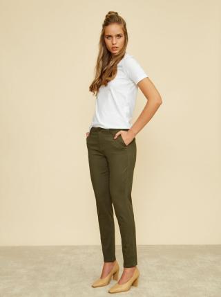 Khaki dámské slim fit kalhoty ZOOT Baseline Heather dámské S