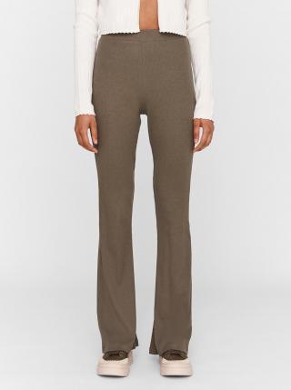 Khaki flared fit kalhoty Noisy May Pasa dámské M