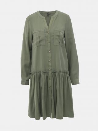 Khaki košilové šaty VERO MODA Michalla dámské XS