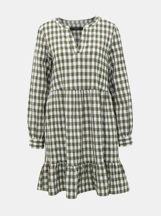 Khaki kostkované šaty VERO MODA Kimi dámské XS