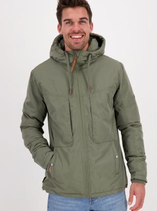Khaki Mens Winter Jacket Alife and Kickin pánské XL