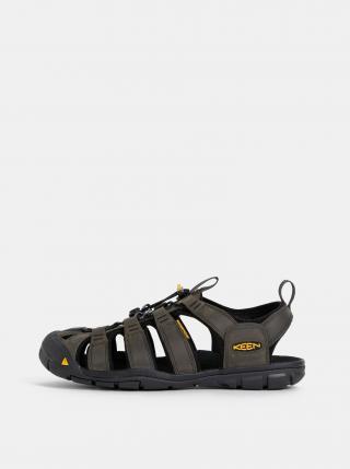 Khaki pánské kožené sandály Keen Clearwater CNX pánské 46