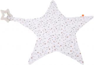 KIKADU Muchláček hvězda s kousátkem hvězdičky bílá