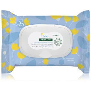Klorane Bébé Calendula jemné čisticí ubrousky pro děti od narození 25 ks 25 ks