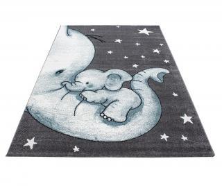Koberec Baby Elephant Blue 160x230 cm Modrá 160x230 cm