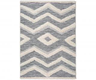 Koberec Cheroky Pattern 115x170 cm Bílá 115x170 cm