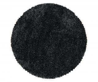 Koberec Fluffy Anthracite 160x160 cm Šedá & Stříbrná 160x160 cm