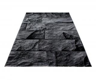 Koberec Parma Bricks Black 80x150 cm Černá 80x150 cm