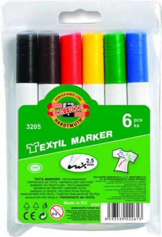 KOH-I-NOOR Textil Marker 3205  Mix