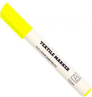 KOH-I-NOOR Textile Marker Fluo Yellow