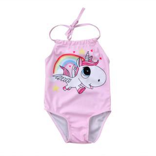 Kojenecké dívčí plavky s jednorožcem - Růžové Velikost: 0-6 měsíců