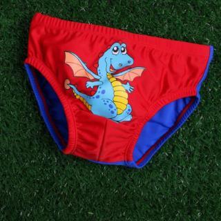 Kojenecké plavky s drakem - 4 barvy Barva: červená, Velikost: 6-9 měsíců
