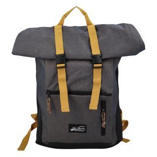 Kombinovaný cestovní batoh šedý žíhaný - New Rebels Klassier pánské