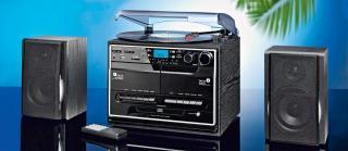 Kompaktní přehrávač s dab  a gramofonem