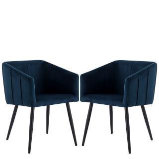 Komplet 2 jídelních židlí Mizuno, modré