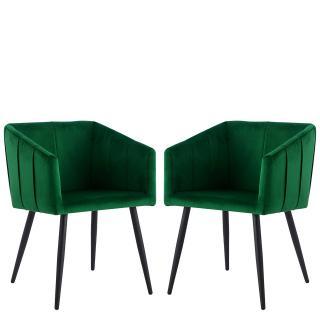 Komplet 2 jídelních židlí Mizuno, zelené
