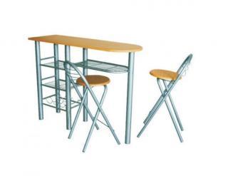 Komplet barový stůl   2 židle BOXER, buk